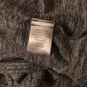 Olivia Moon Sweaters - Olivia Moon grey cowl neck dolman sleeve sweater L
